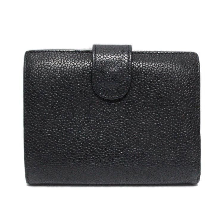 hot sale online d2524 a25d1 CHANEL シャネル ヴィンテージキャビアスキンココマークがま口二つ折り財布 - ヴィンテージブランドの通販ショップRiLish