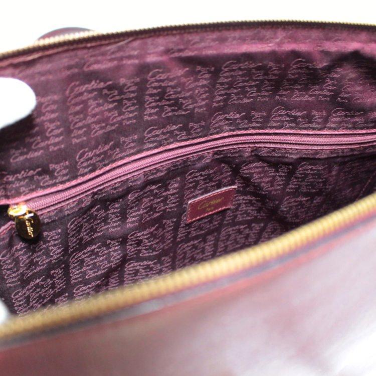 Cartier カルティエ ヴィンテージ<br>マストラインレザーハンドバッグ