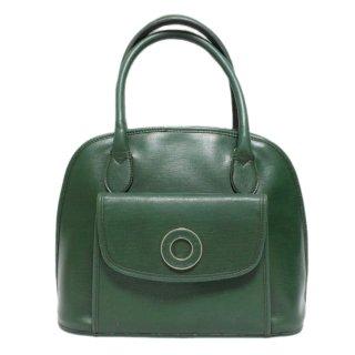 CELINE セリーヌ ヴィンテージ<br>サークル金具ハンドバッグ グリーン