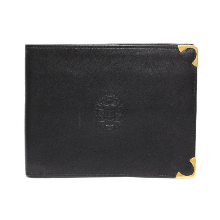 CELINE セリーヌ ヴィンテージ<br>ブラゾンレザー二つ折り財布