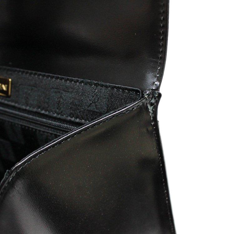 YSL イヴサンローラン ヴィンテージ<br>カーフレザーケリー型ハンドバッグ