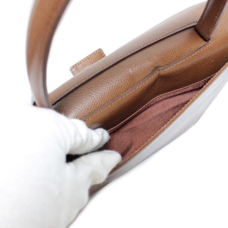 GIVENCHY ジバンシー ヴィンテージ<br>ロゴレザーハンドバッグ キャメル