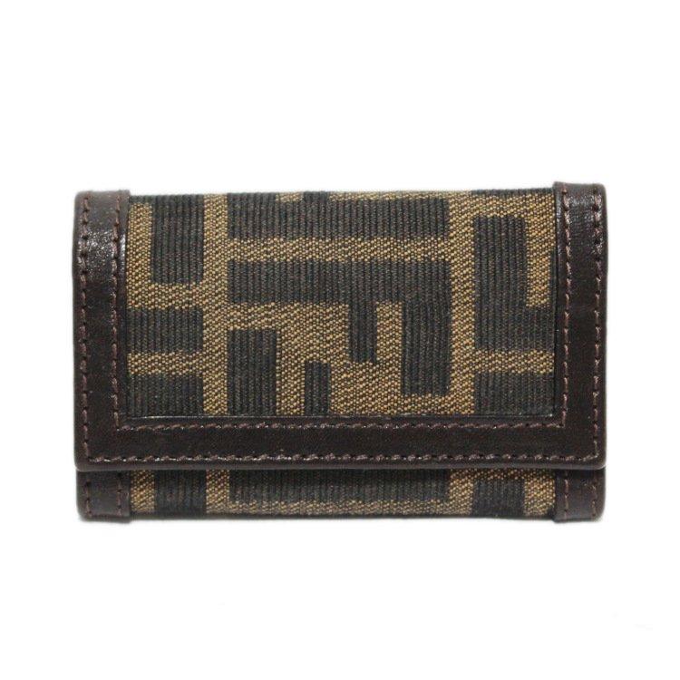 FENDI フェンディ ヴィンテージ<br>ズッカ柄6連キーケース