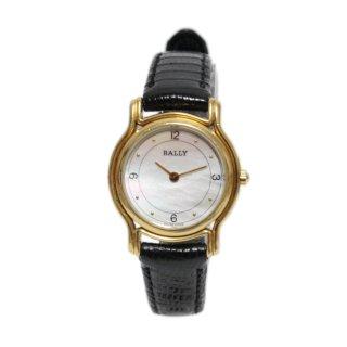 BALLY バリー ヴィンテージ<br>シェル文字盤レザーベルトQZ腕時計