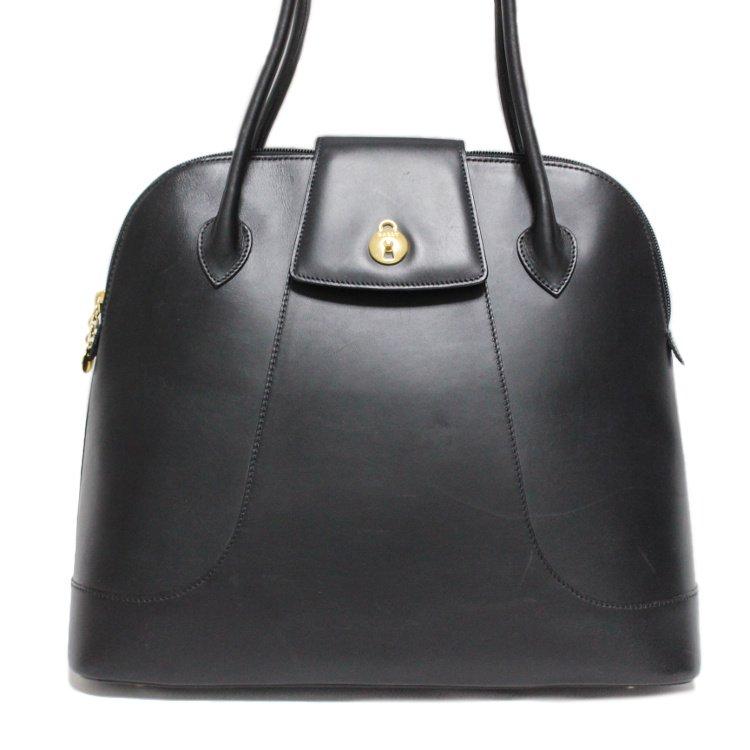 BALLY バリー ヴィンテージ<br>ボリード型レザーハンドバッグ