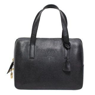 PRADA プラダ ヴィンテージ<br>ロゴレザーミニボストンハンドバッグ