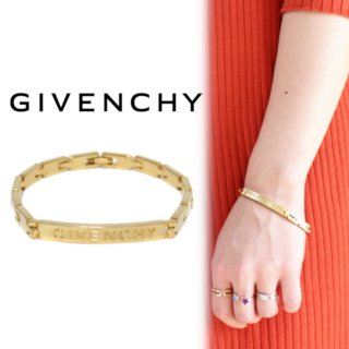 <img class='new_mark_img1' src='https://img.shop-pro.jp/img/new/icons14.gif' style='border:none;display:inline;margin:0px;padding:0px;width:auto;' />GIVENCHY ジバンシー ヴィンテージ<br>ロゴブレスレット
