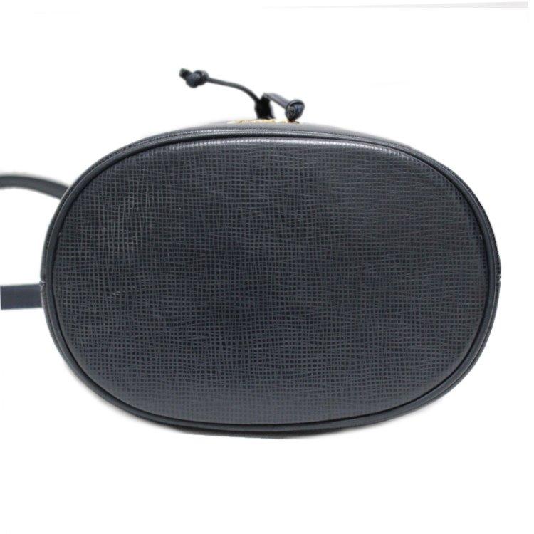 HUNTING WORLD ハンティングワールド ヴィンテージ<br>レザー巾着ショルダーバッグ