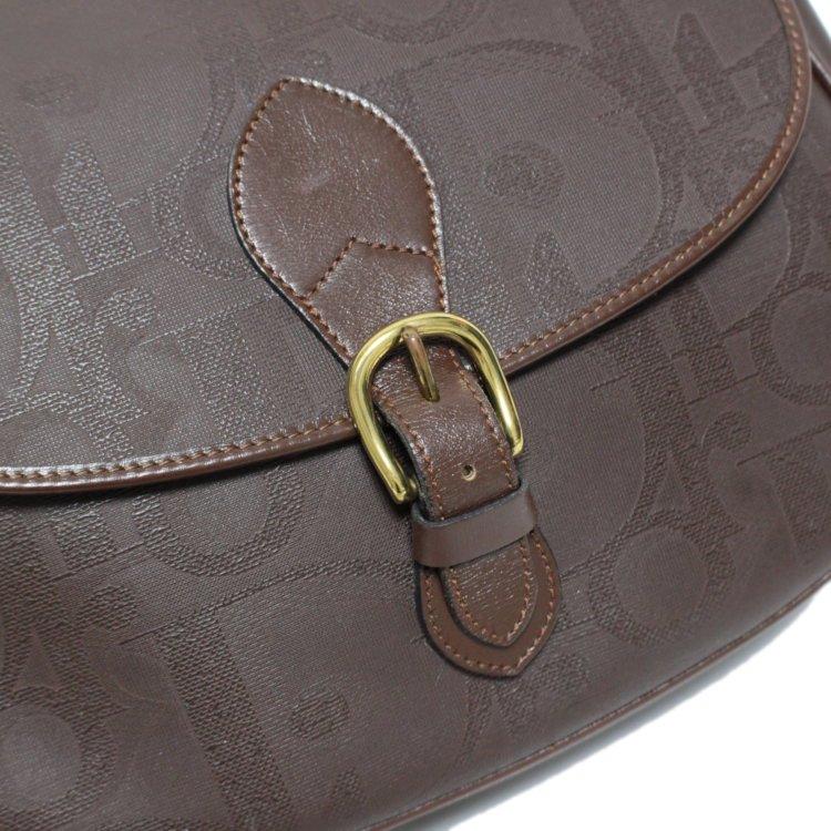 Dior ディオール ヴィンテージ<br>キャンバスロゴショルダーバッグ ブラウン