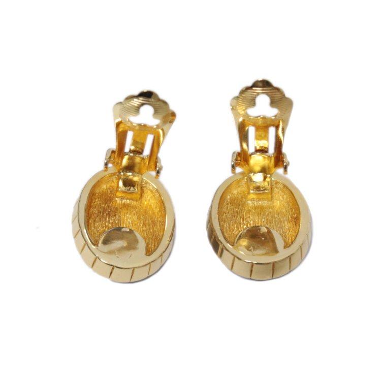 Dior ディオール ヴィンテージ<br>カラーストーンイヤリング ブルー