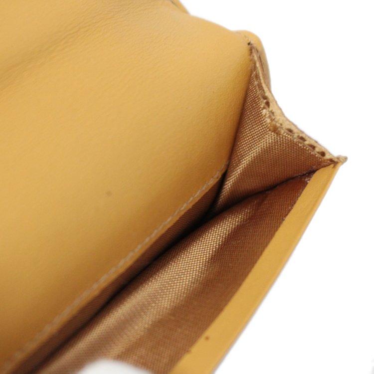 CELINE セリーヌ ヴィンテージ<br>マカダム柄がま口二つ折り財布