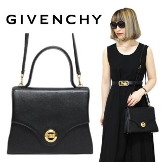 <img class='new_mark_img1' src='https://img.shop-pro.jp/img/new/icons14.gif' style='border:none;display:inline;margin:0px;padding:0px;width:auto;' />GIVENCHY ジバンシー ヴィンテージ<br>2WAYターンロックハンド/ショルダーバッグ