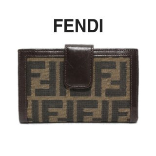 <img class='new_mark_img1' src='https://img.shop-pro.jp/img/new/icons14.gif' style='border:none;display:inline;margin:0px;padding:0px;width:auto;' />FENDI フェンディ ヴィンテージ<br>ズッカ柄がま口二つ折り財布
