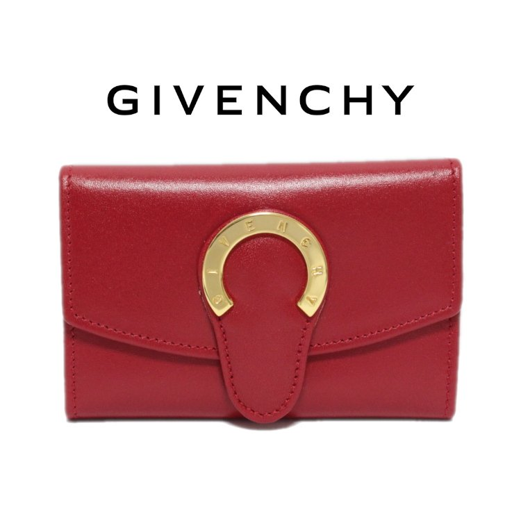 <img class='new_mark_img1' src='https://img.shop-pro.jp/img/new/icons14.gif' style='border:none;display:inline;margin:0px;padding:0px;width:auto;' />GIVENCHY ジバンシー ヴィンテージ<br>ロゴ金具6連キーケース レッド 未使用品
