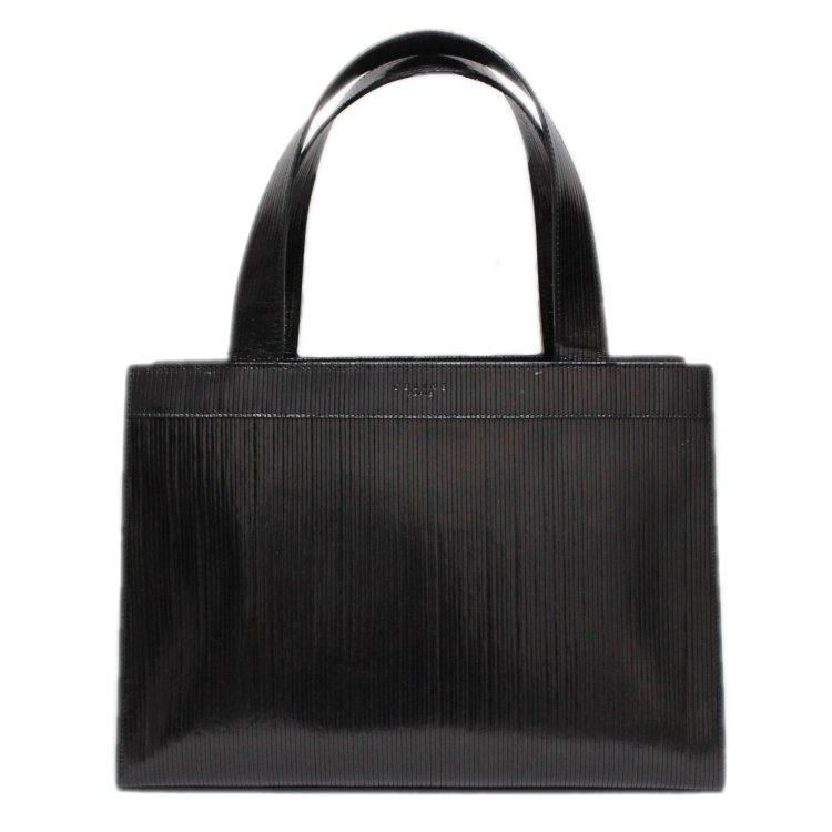 CELINE セリーヌ ヴィンテージ<br>キャリッジモチーフレザーハンドバッグ
