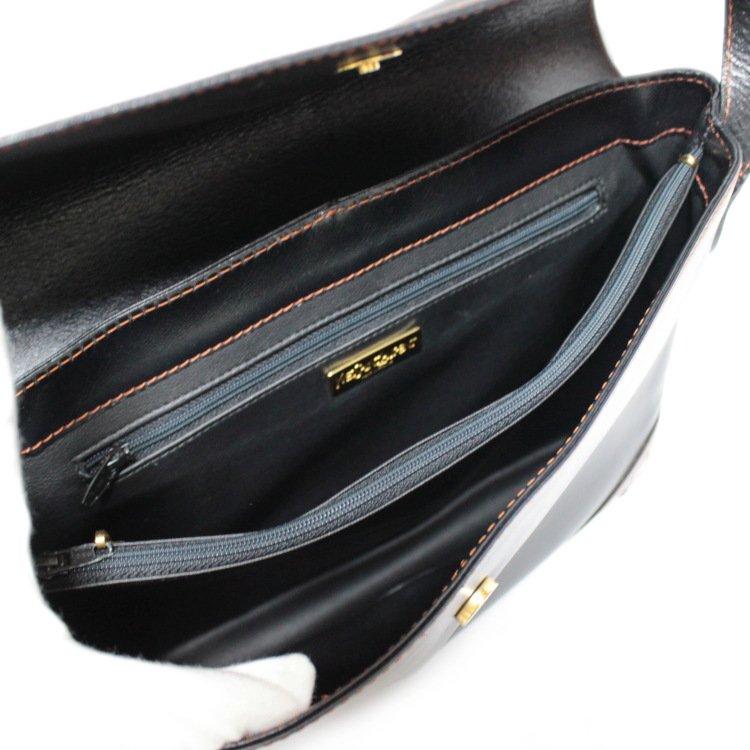 YSL イヴサンローラン ヴィンテージ<br>Yカットアウトレザーショルダーバッグ