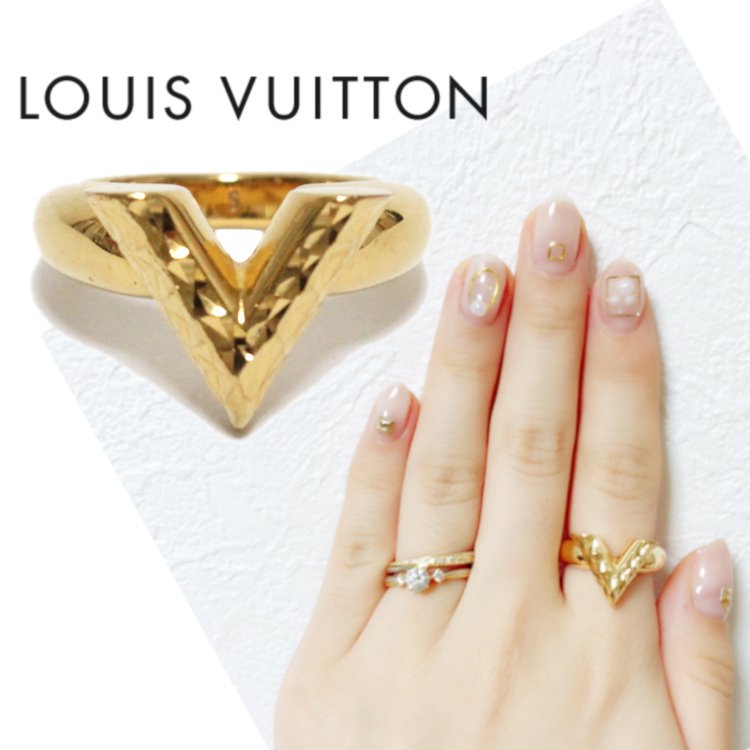 LOUIS VUITTON ルイヴィトン ヴィンテージ<br>エッセンシャルVリング