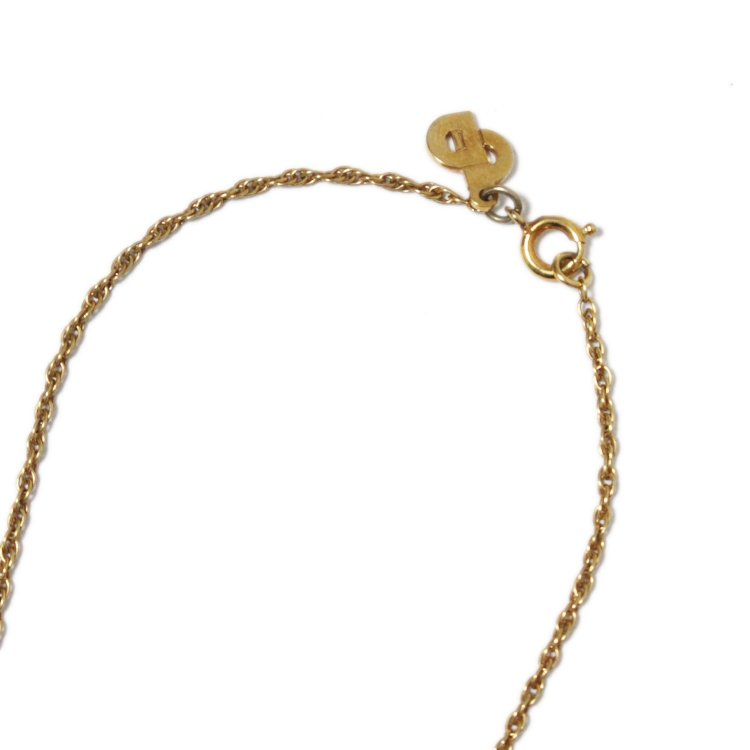 Dior ディオール ヴィンテージ<br>カラーストーンネックレス グリーン