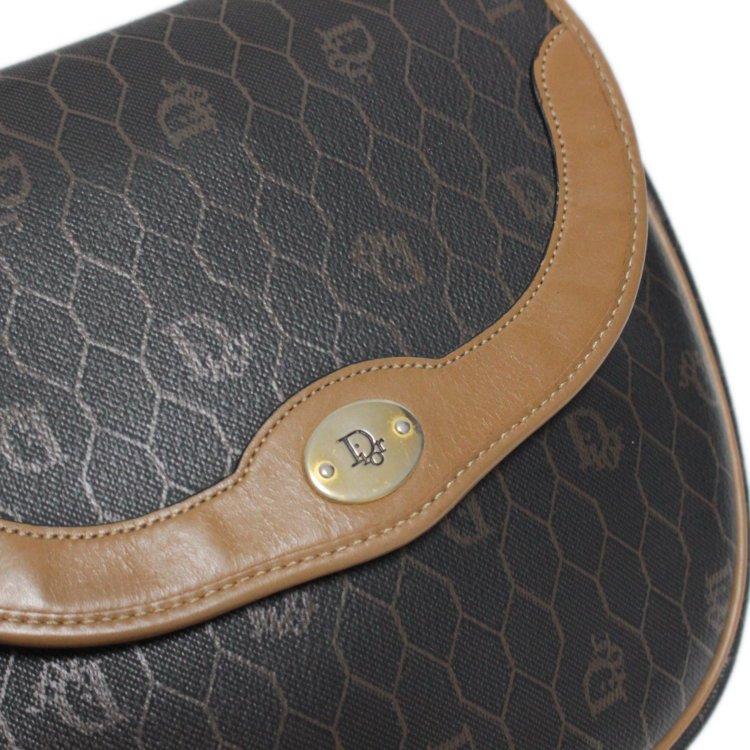 Dior ディオール ヴィンテージ<br>ハニカム柄バイカラーショルダーバッグ