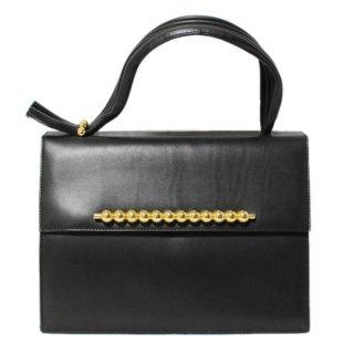 BALLY バリー ヴィンテージ<br>フロントモチーフレザーハンドバッグ
