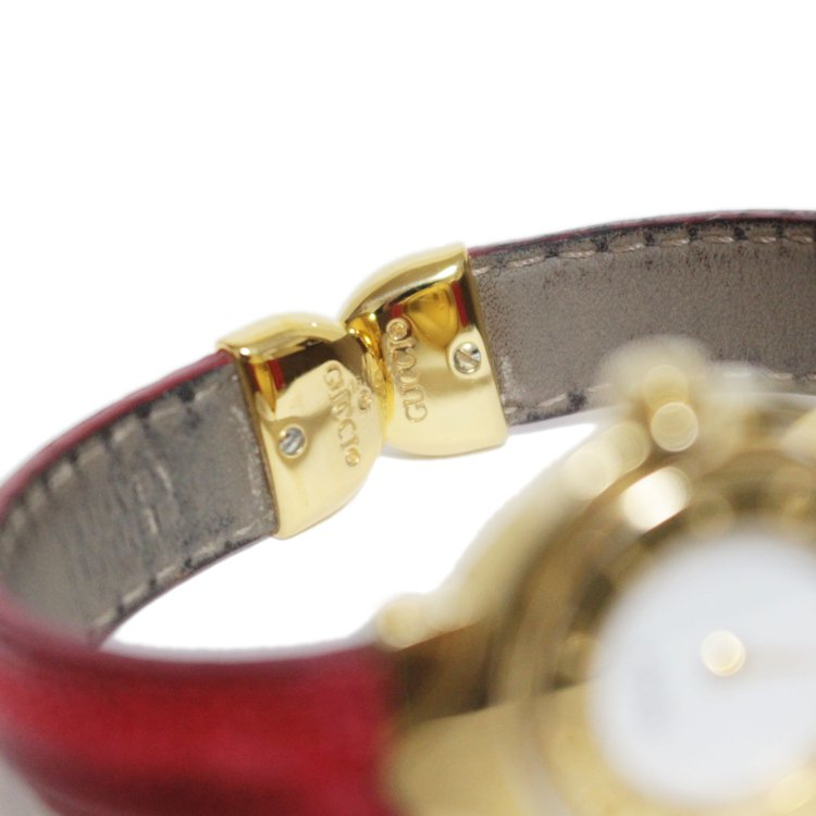 GUCCI グッチ ヴィンテージ<br>ターンGバングルQZ腕時計 (文字盤回転式)