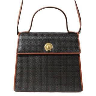 BALLY バリー ヴィンテージ<br>2WAYロゴ総柄バイカラーハンド/ショルダーバッグ