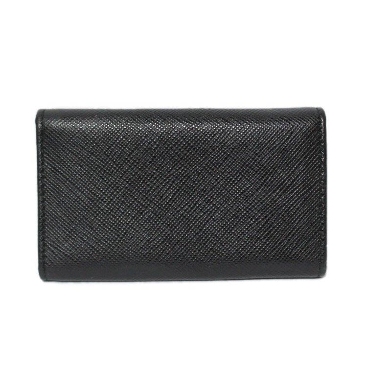 PRADA プラダ ヴィンテージ<br>サフィアーノロゴ6連キーケース ブラック