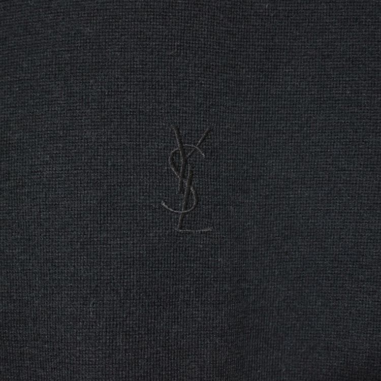 YSL イヴサンローラン ヴィンテージ<br>ゴールドパイピングロゴポロシャツ
