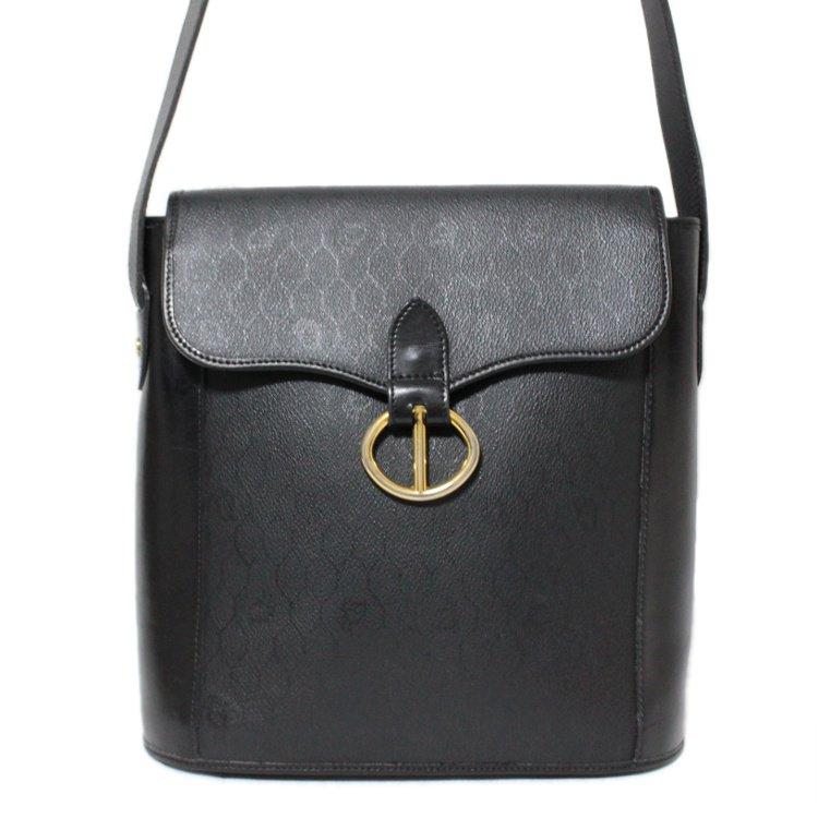 Dior ディオール ヴィンテージ<br>ハニカム柄PVC×カーフレザーショルダーバッグ