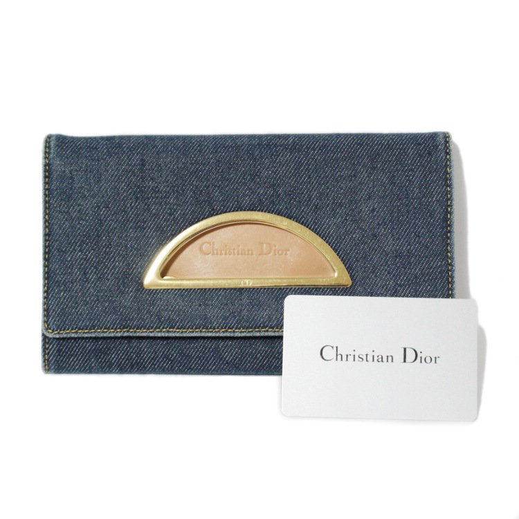 Dior ディオール ヴィンテージ<br>マリスパールデニム長財布