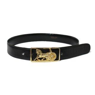 CELINE セリーヌ ヴィンテージ<br>ホースキャリッジレザーベルト 65