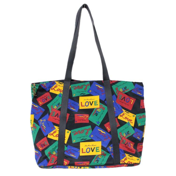 YSL イヴサンローラン ヴィンテージ<br>LOVEマルチカラービッグトートショルダーバッグ
