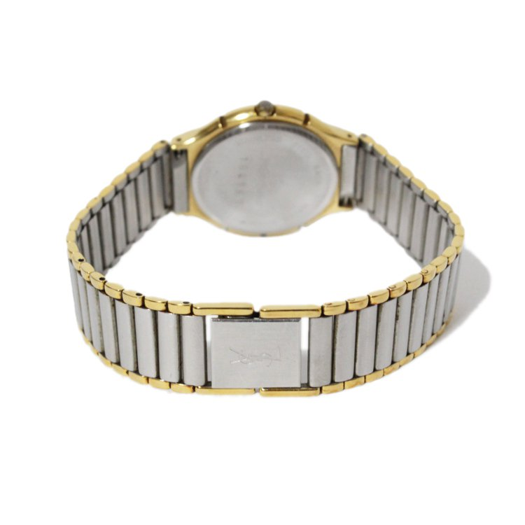 YSL イヴサンローラン ヴィンテージ<br>コンビカラーデイトQZ腕時計