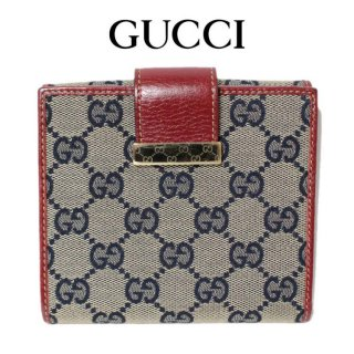 <img class='new_mark_img1' src='https://img.shop-pro.jp/img/new/icons14.gif' style='border:none;display:inline;margin:0px;padding:0px;width:auto;' />GUCCI グッチ ヴィンテージ<br>GGキャンバスWホック財布