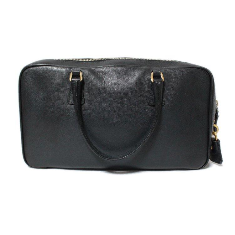 PRADA プラダ ヴィンテージ<br>サフィアーノロゴレザーハンドバッグ