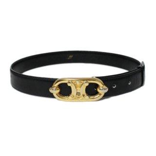 CELINE セリーヌ ヴィンテージ<br>ブラゾンレザーベルト 65