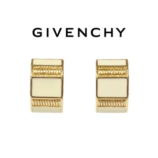 GIVENCHY ジバンシー ヴィンテージ<br>バイカラーデザインイヤリング