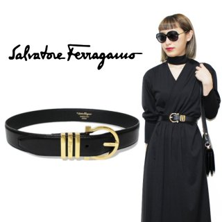 <img class='new_mark_img1' src='https://img.shop-pro.jp/img/new/icons14.gif' style='border:none;display:inline;margin:0px;padding:0px;width:auto;' />Ferragamo フェラガモ ヴィンテージ<br>ガンチーニレザーベルト 65