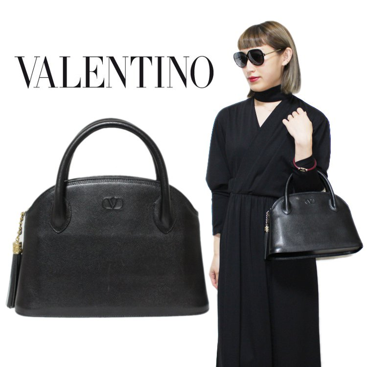 <img class='new_mark_img1' src='https://img.shop-pro.jp/img/new/icons14.gif' style='border:none;display:inline;margin:0px;padding:0px;width:auto;' />VALENTINO ヴァレンティノ ヴィンテージ<br>タッセルフリンジレザーハンドバッグ
