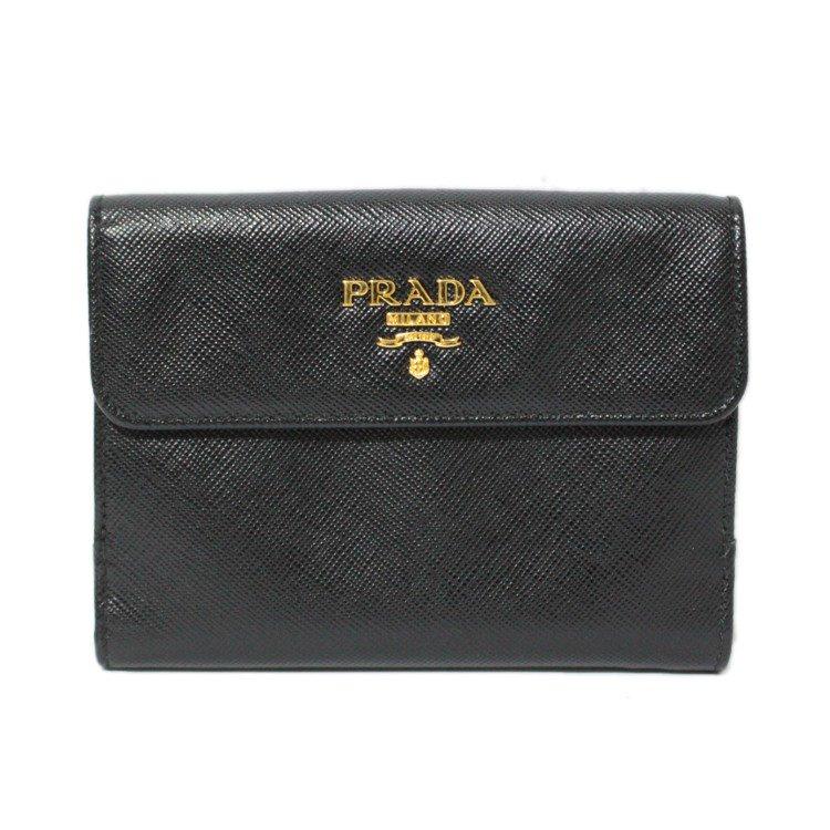 PRADA プラダ ヴィンテージ<br>サフィアーノロゴ二つ折り財布