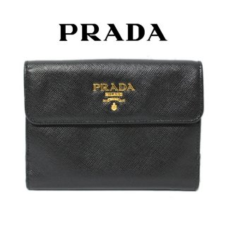 <img class='new_mark_img1' src='https://img.shop-pro.jp/img/new/icons14.gif' style='border:none;display:inline;margin:0px;padding:0px;width:auto;' />PRADA プラダ ヴィンテージ<br>サフィアーノロゴ二つ折り財布