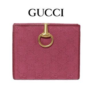 <img class='new_mark_img1' src='https://img.shop-pro.jp/img/new/icons14.gif' style='border:none;display:inline;margin:0px;padding:0px;width:auto;' />GUCCI グッチ ヴィンテージ<br>GGキャンバスWホック財布 ピンク