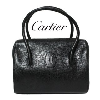 <img class='new_mark_img1' src='https://img.shop-pro.jp/img/new/icons14.gif' style='border:none;display:inline;margin:0px;padding:0px;width:auto;' />Cartier カルティエ ヴィンテージ<br>マストラインボストンハンドバッグ ブラック