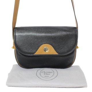 Dior ディオール ヴィンテージ<br>バイカラーレザーショルダーバッグ
