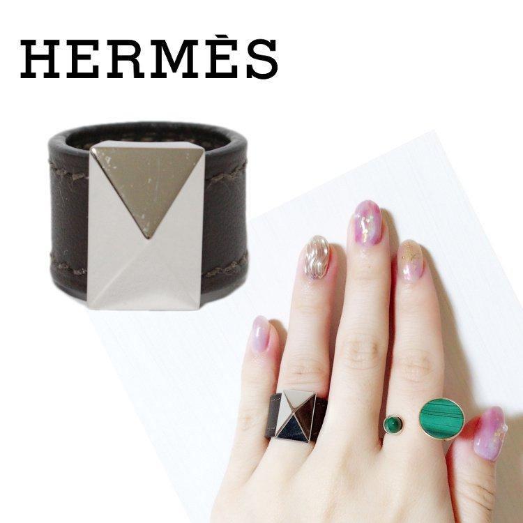 HERMES エルメス ヴィンテージ<br>メドールレザーリング S