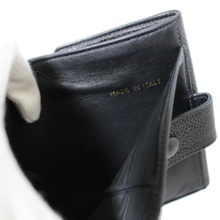 CHANEL シャネル ヴィンテージ<br>ココマークキャビアスキンWホック二つ折り財布