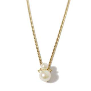 Dior ディオール ヴィンテージ<br>フェイクパール×ラインストーンネックレス