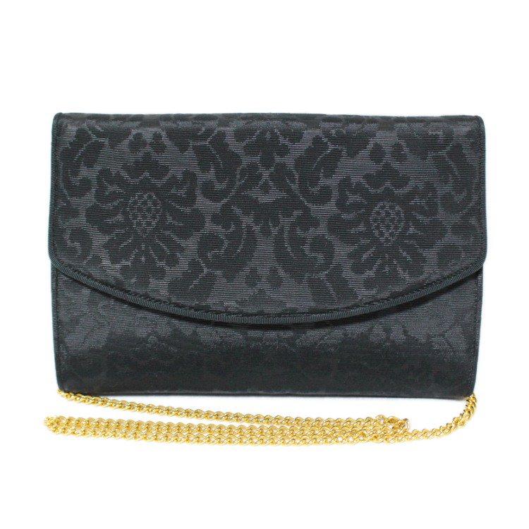 Ferragamo フェラガモ ヴィンテージ<br>ジャガード織りチェーンショルダーバッグ