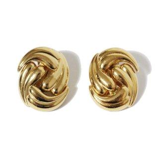 Dior ディオール ヴィンテージ<br>ゴールドデザインイヤリング