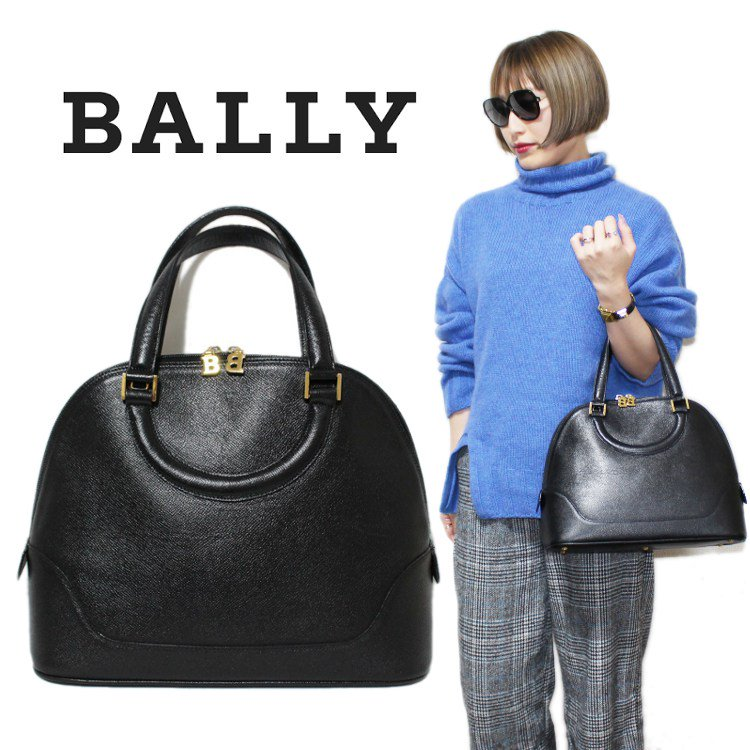 <img class='new_mark_img1' src='https://img.shop-pro.jp/img/new/icons14.gif' style='border:none;display:inline;margin:0px;padding:0px;width:auto;' />BALLY バリー ヴィンテージ<br>ボリード型レザーハンドバッグ